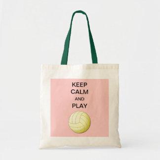 Guarde la bolsa de asas del voleibol de la calma y