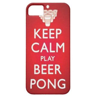 Guarde la caja tranquila del teléfono de Pong de iPhone 5 Case-Mate Cobertura