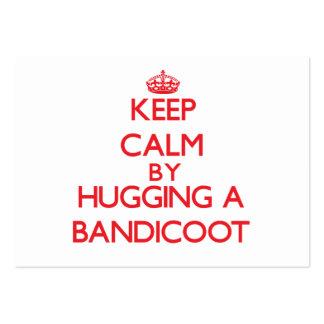Guarde la calma abrazando un Bandicoot Tarjeta De Visita