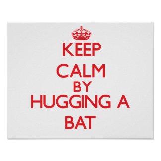 Guarde la calma abrazando un palo poster