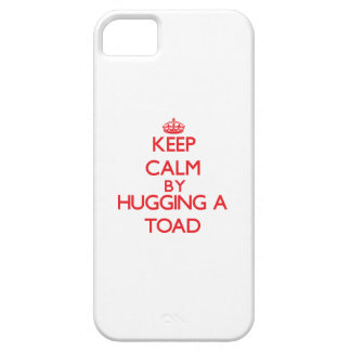 Guarde la calma abrazando un sapo iPhone 5 carcasas