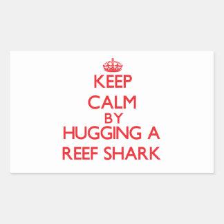 Guarde la calma abrazando un tiburón del filón rectangular altavoz