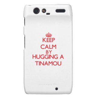 Guarde la calma abrazando un Tinamou Motorola Droid RAZR Fundas