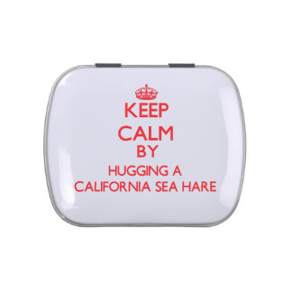 Guarde la calma abrazando una liebre de mar de Cal Jarrones De Dulces