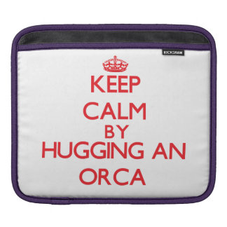 Guarde la calma abrazando una orca mangas de iPad