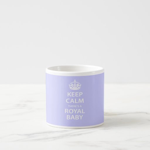Guarde la calma allí es un bebé real tazitas espresso