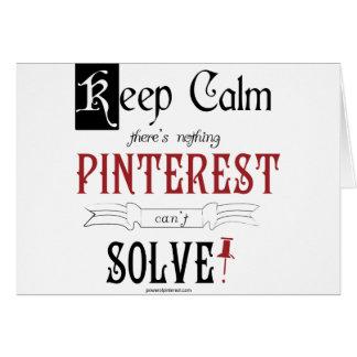 Guarde la calma, allí que no es que nada Pinterest Tarjeta De Felicitación