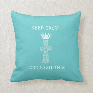 Guarde la calma, almohada de dios