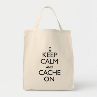Guarde la calma bolsa tela para la compra