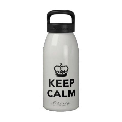 Guarde la calma botellas de beber
