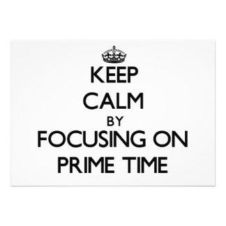 Guarde la calma centrándose el hora de máxima audi comunicados personalizados