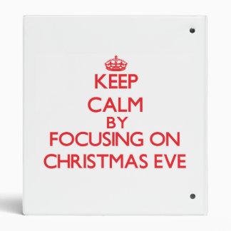 Guarde la calma centrándose el Nochebuena