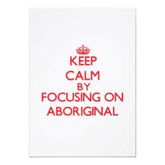 Guarde la calma centrándose en aborigen anuncios