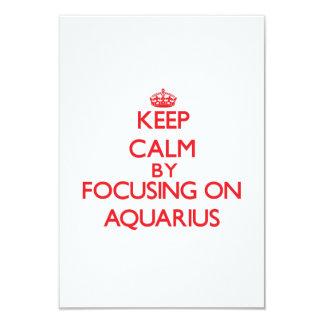 """Guarde la calma centrándose en acuario invitación 3.5"""" x 5"""""""