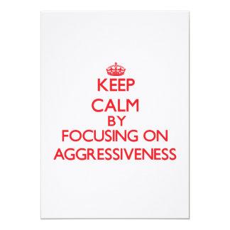 Guarde la calma centrándose en agresividad invitación