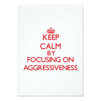 Guarde la calma centrándose en agresividad comunicados personalizados
