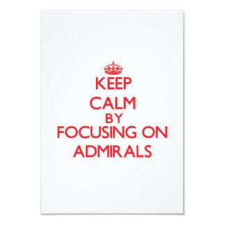 Guarde la calma centrándose en almirantes anuncio personalizado