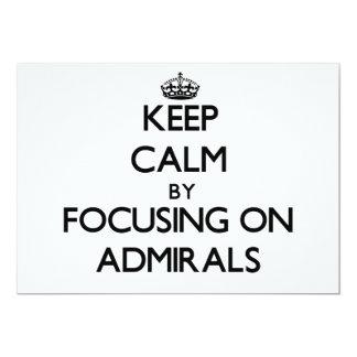 Guarde la calma centrándose en almirantes anuncios