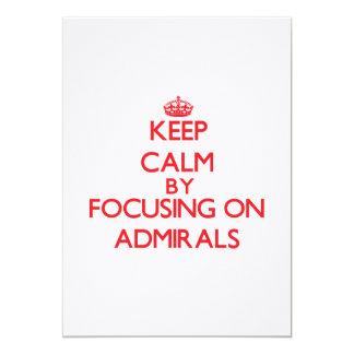 Guarde la calma centrándose en almirantes invitacion personalizada