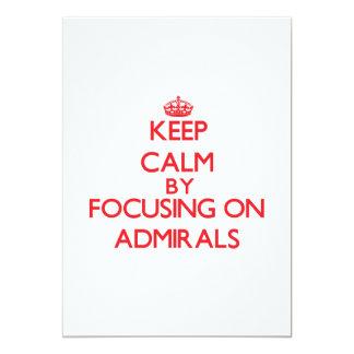 Guarde la calma centrándose en almirantes comunicado