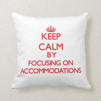 Guarde la calma centrándose en alojamientos cojin