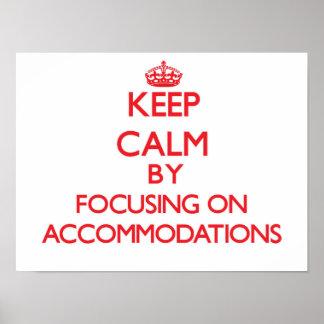 Guarde la calma centrándose en alojamientos impresiones