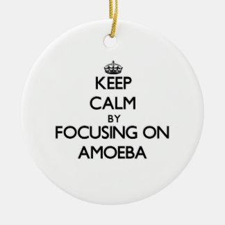 Guarde la calma centrándose en ameba