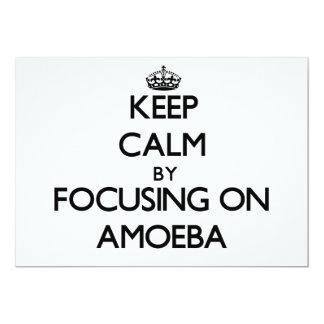 "Guarde la calma centrándose en ameba invitación 5"" x 7"""