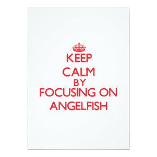 """Guarde la calma centrándose en Angelfish Invitación 5"""" X 7"""""""