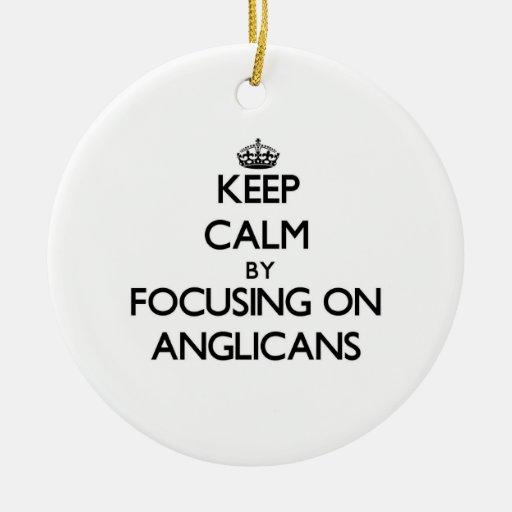 Guarde la calma centrándose en anglicanos ornamento para reyes magos