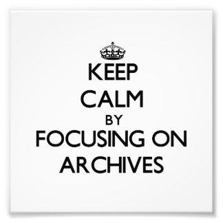 Guarde la calma centrándose en archivos