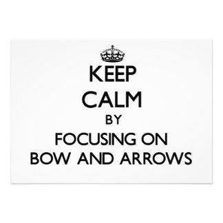 Guarde la calma centrándose en arco y flechas