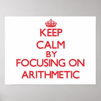 Guarde la calma centrándose en aritmética impresiones