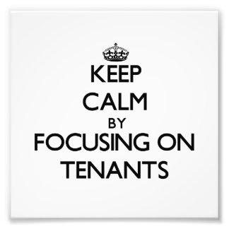 Guarde la calma centrándose en arrendatarios