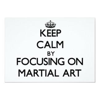 Guarde la calma centrándose en arte marcial invitación 12,7 x 17,8 cm