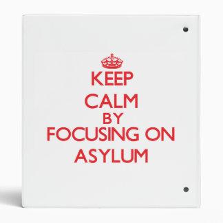 Guarde la calma centrándose en asilo