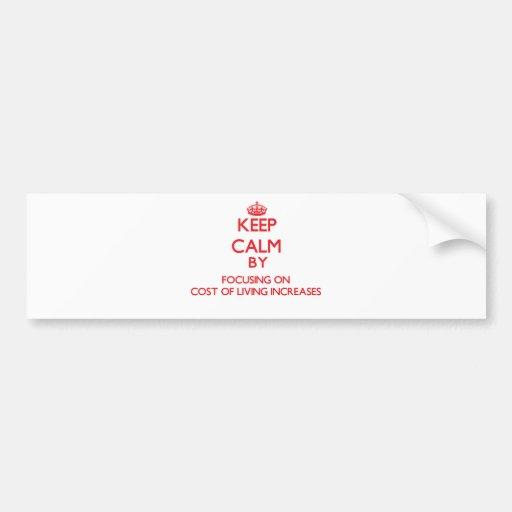 Guarde la calma centrándose en aumentos de costo etiqueta de parachoque