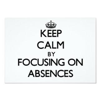 Guarde la calma centrándose en ausencias comunicado personalizado