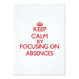 Guarde la calma centrándose en ausencias invitación personalizada