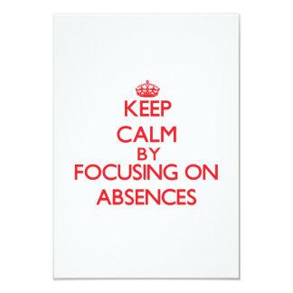 Guarde la calma centrándose en ausencias comunicados personalizados