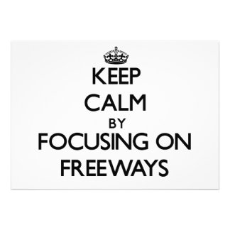 Guarde la calma centrándose en autopistas sin peaj invitacion personalizada