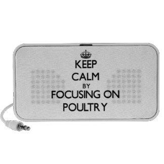 Guarde la calma centrándose en aves de corral iPod altavoz