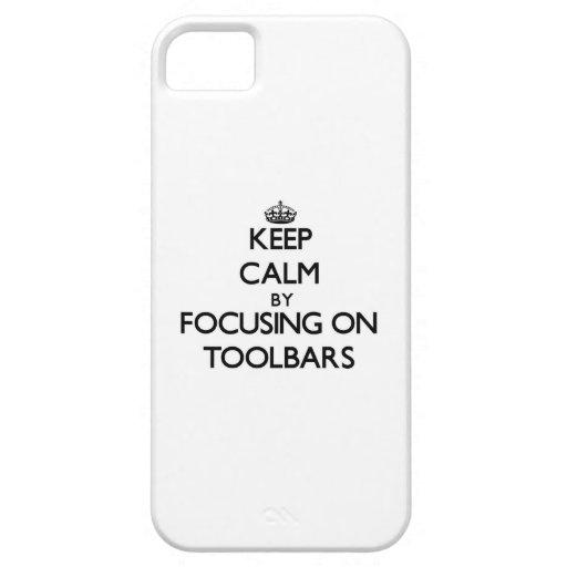 Guarde la calma centrándose en barras de iPhone 5 protector
