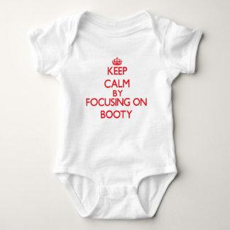 Guarde la calma centrándose en botín body para bebé