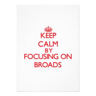 Guarde la calma centrándose en Broads Comunicados Personalizados
