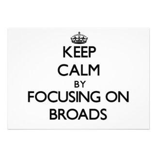 Guarde la calma centrándose en Broads