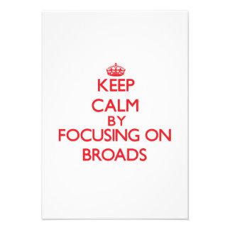 Guarde la calma centrándose en Broads Comunicados Personales