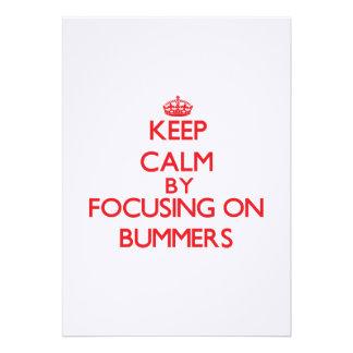 Guarde la calma centrándose en Bummers Invitaciones Personalizada