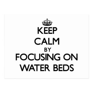 Guarde la calma centrándose en camas de agua postal