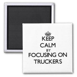 Guarde la calma centrándose en camioneros